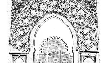 Coloriage Ramadan: mosquée (3)