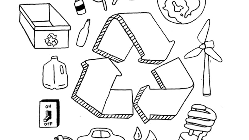 Coloriage Recyclons !