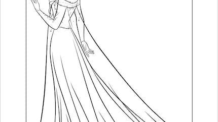 Coloriage Reine des Neiges : Elsa