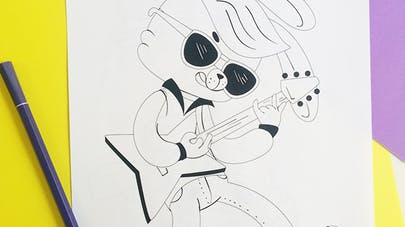 coloriage rock'n'roll