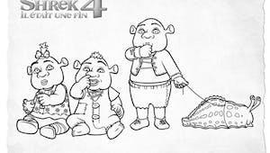 Coloriage Shrek: Les bébés de Shrek