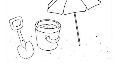 Coloriage sous le parasol