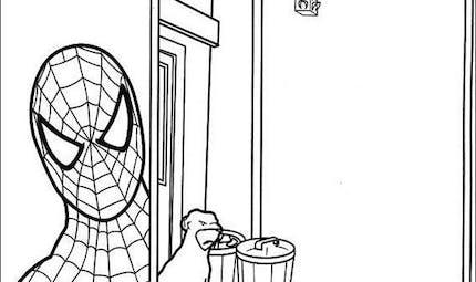 Coloriage Spider-Man 10