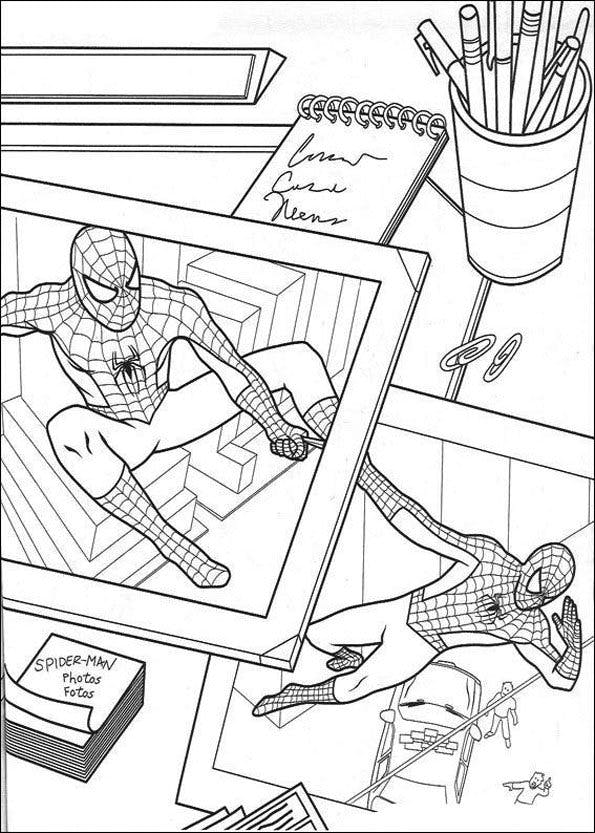 Coloriage Spider-Man dans le journal | MOMES.net
