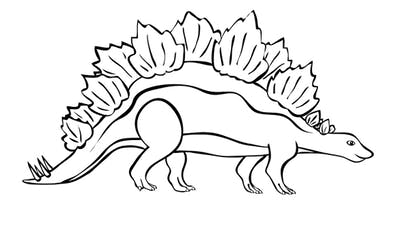Coloriage Stégosaure