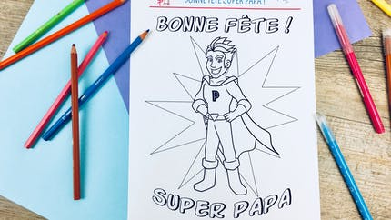 Coloriage Super Papa !