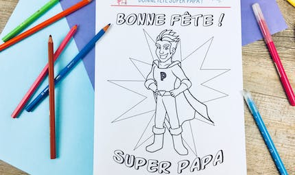 Coloriage Super Papa !