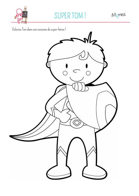Coloriage Super Tom Momes Net