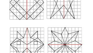 Coloriage symétrique: exercice
