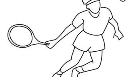 Coloriage tennis