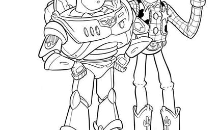 Coloriage Toy Story - Buzz et Woody