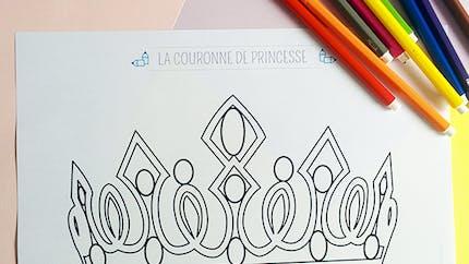Coloriage une couronne de princesse