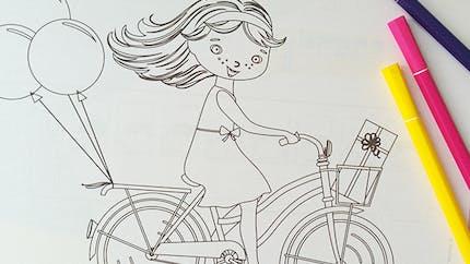 Coloriage La bicyclette