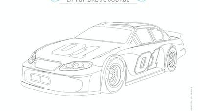 coloriage voiture course rapide
