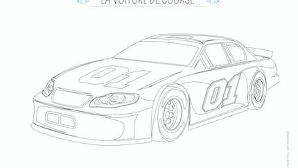 Coloriage La voiture de course