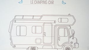 Coloriage voiture : le camping-car