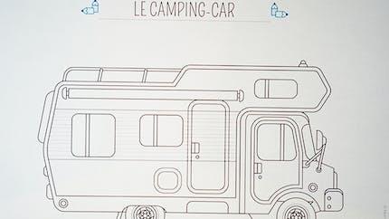 Coloriage voiture : le camping-car