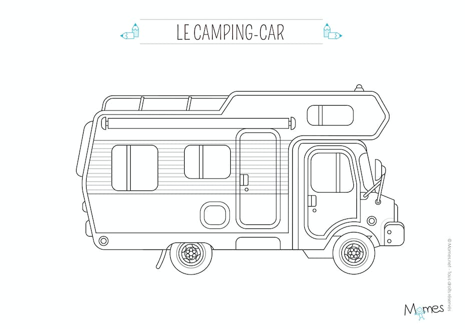 Coloriage Voiture Le Camping Car Momes Net