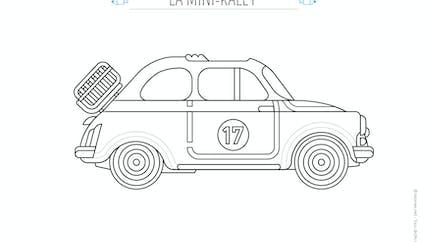 Coloriage La voiture de rallye