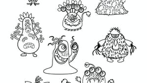 Coloriages : les monstres sous le lit