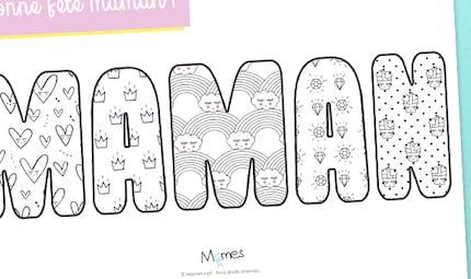 Colorie le mot Maman