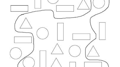 formes géométriques intérieur extérieur
