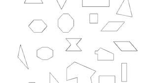 Colorier les polygones : exercice niveau 2