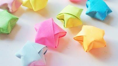 etoile en papier origami