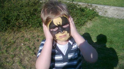 maquillage enfant batman