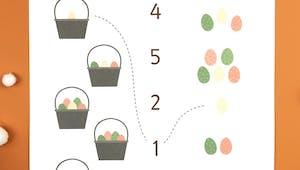 Compter les oeufs de Pâques