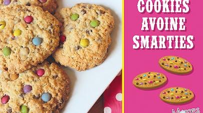 cookies avoine smarties