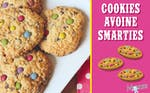 Cookies d'avoine aux smarties