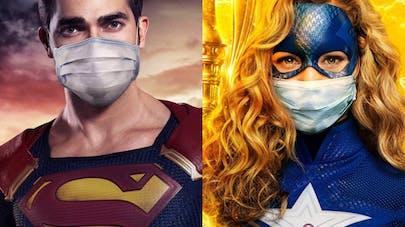 super-héros portent masques contre coronavirus DC       comics