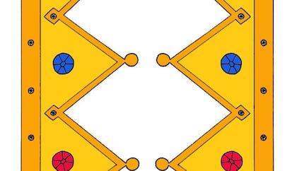 Couronne de roi avec diamants à imprimer