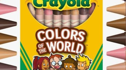 crayola gamme crayons teintes peaux colors of the       world