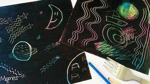 Créer des dessins à gratter