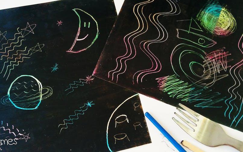 fabriquer dessins à gratter