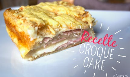 Croque-cake au jambon-fromage