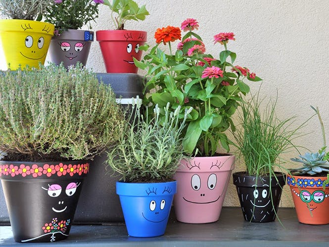 Custominer des pots de fleurs