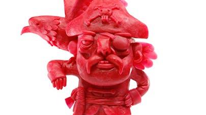 sculptures peau rouge de Babybel Gianluca Maruotti