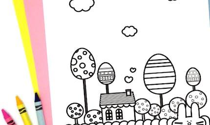 Dans le jardin du lapin de Pâques