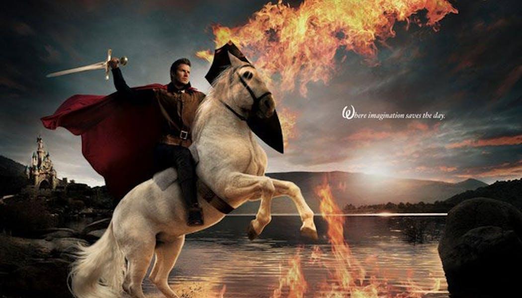 David Beckham (Le Prince Philippe dans La Belle au       Bois Dormant)