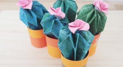 De chouettes cactus façon origami