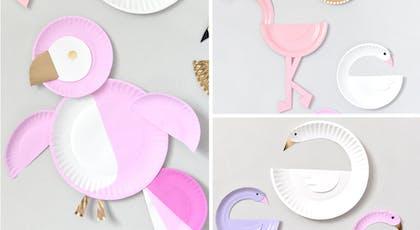 oiseaux assiettes en carton