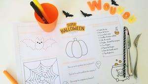 Décoration Halloween à imprimer : le set de table pour enfant