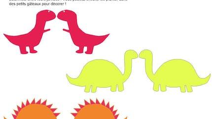 Décorations gâteaux dinosaure à imprimer