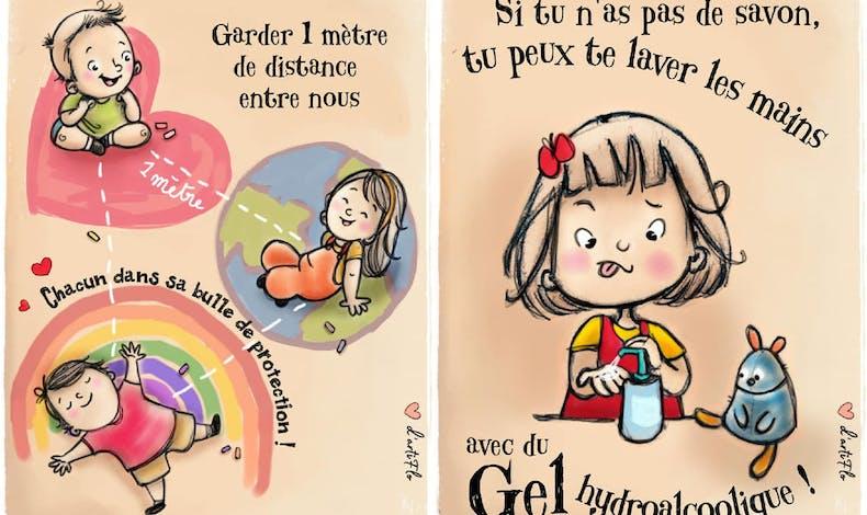 Des affiches rigolotes pour faire connaître les gestes       barrières