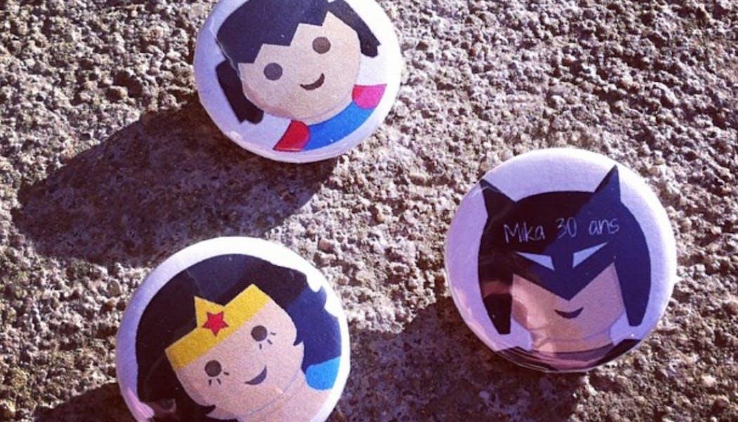 Des badges super-héros