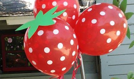 Des ballons fraises !