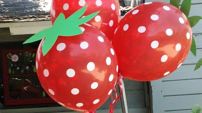 ballons fraise